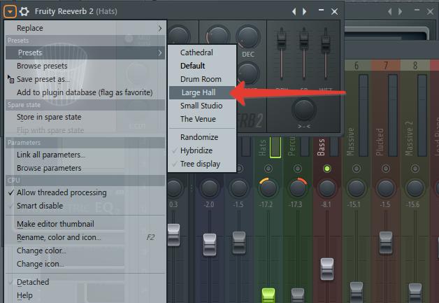 эффект реверба для хэтов в FL Studio