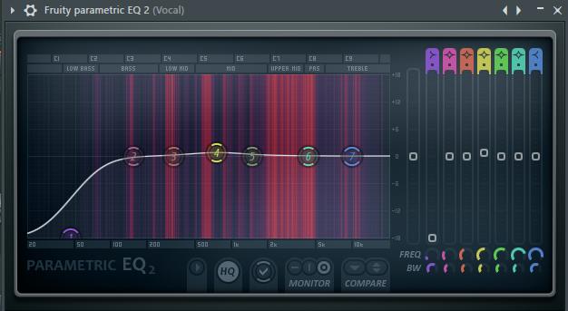 экалайзер вокала в FL Studio