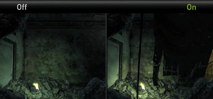 игра с включенной и выключенной технологией NVIDIA PhysX 2