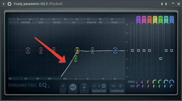 обрезать частотный диапазон в FL Studio