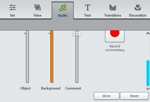 звук в Magix Photostory