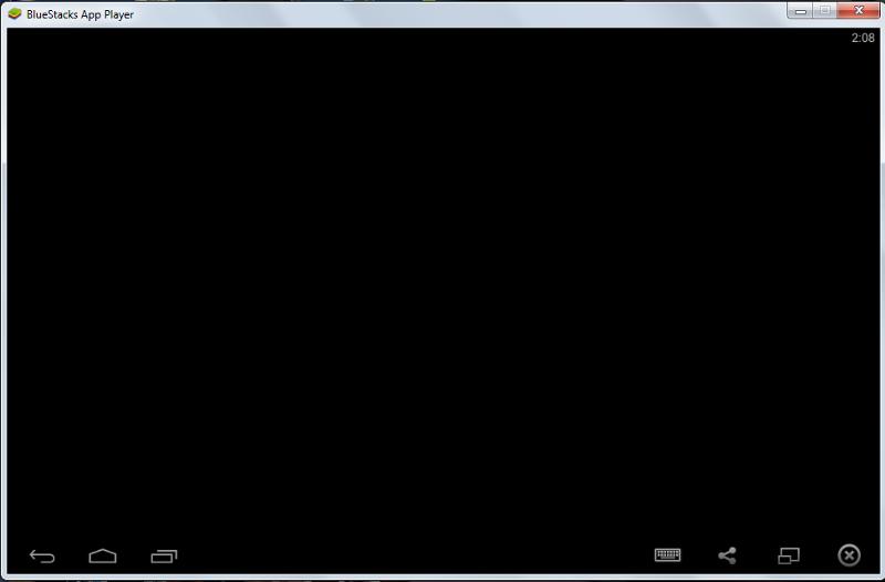 Черный экран в программе BlueStacks