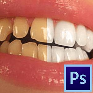 Как отбелить зубы в Фотошопе-2