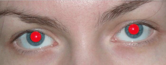 Удаляем красные глаза способ 1