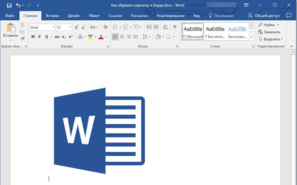 Уменьшенное изображение в Word