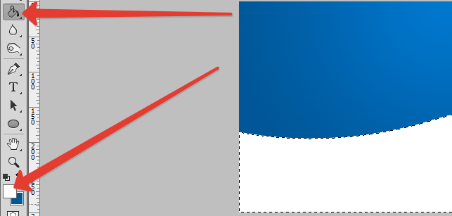 Заливка выделенной области в Фотошопе (2)