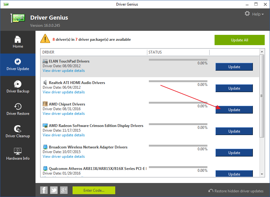 Программа Driver Genius для устранения ошибки необрабатываемое исключение в приложении .NET Framework