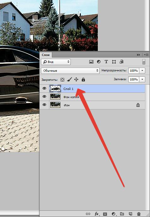 Как сделать на задний фон в фотошопе