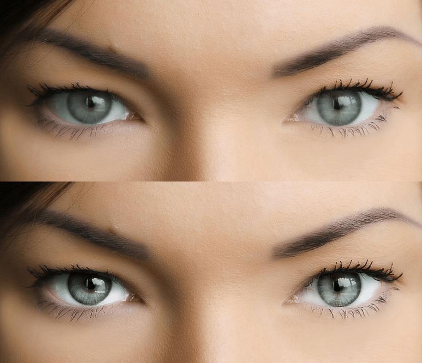 Результат работы над глазами в Фотошопе