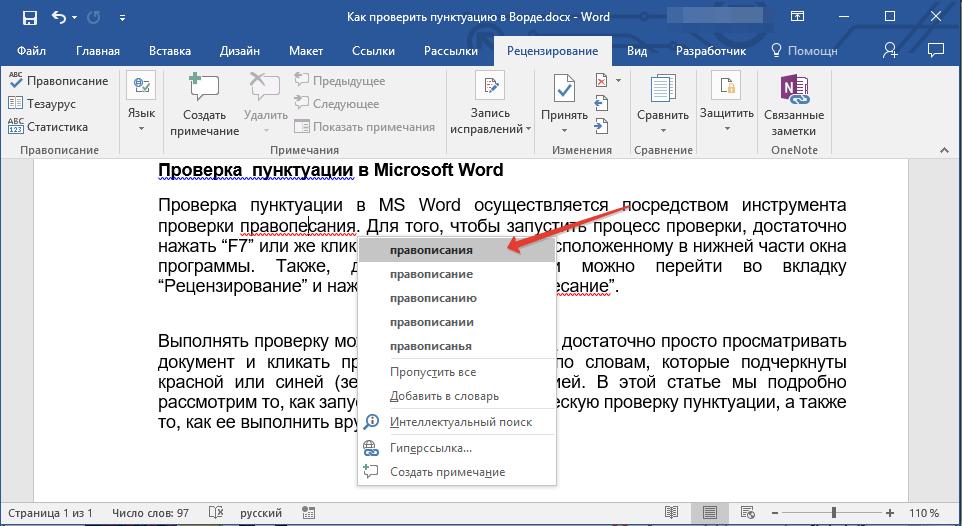 vyibor-ispravleniya-v-word
