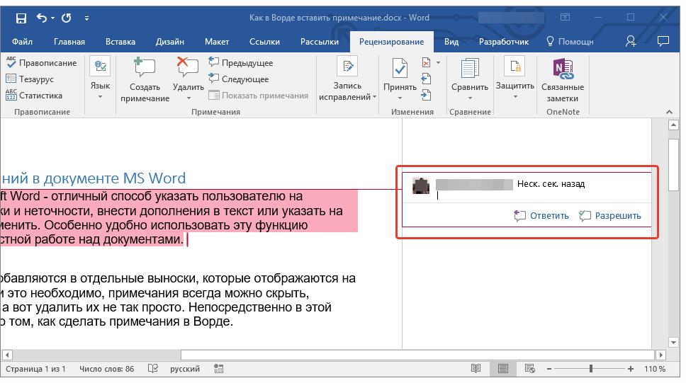 vyinoska-dlya-vvoda-primechaniya-v-word