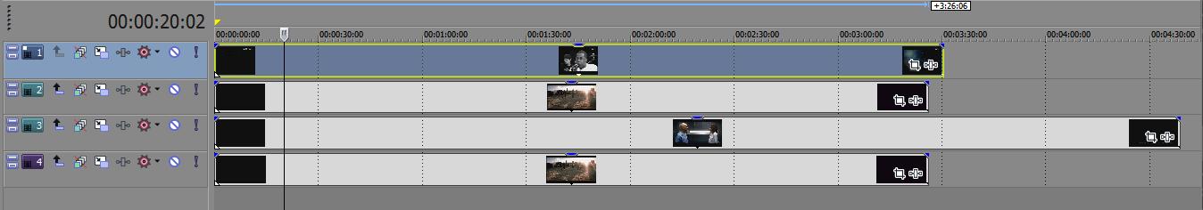 Добавление видео Sony Vegas