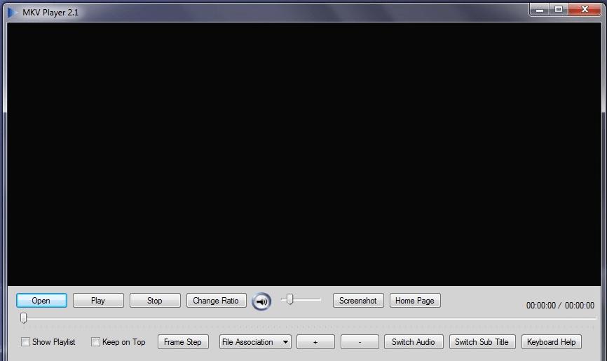 Главное меню в MKV Player
