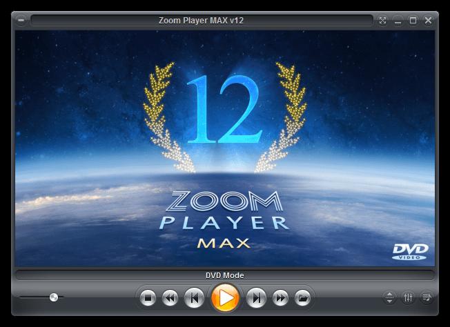 Главное меню в Zoom Player Max