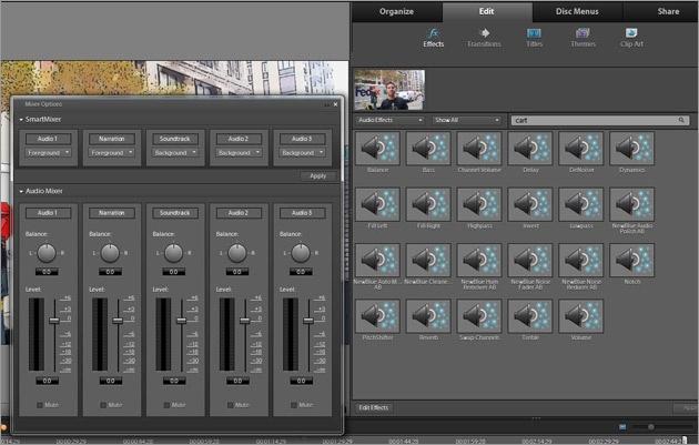 Аудиоэффекты в Adobe Premier