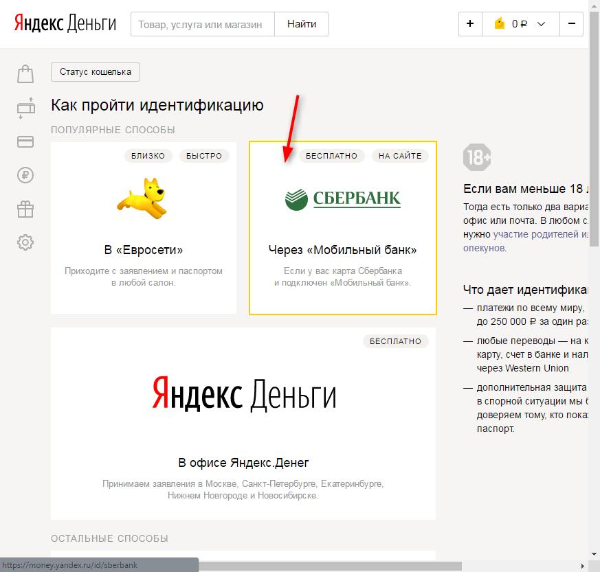 Идентификация Яндекс Кошелька 3