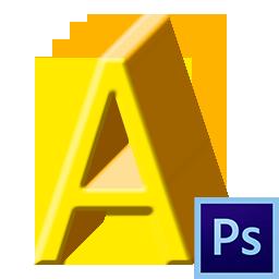 Как сделать объемные буквы в Фотошопе