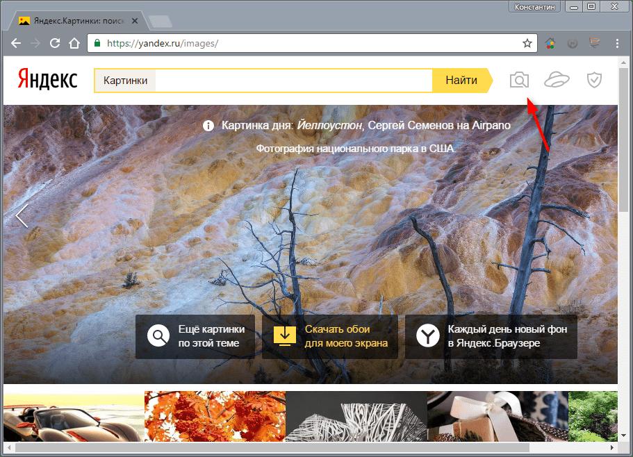 Как выполнить поиск по картинкам в Яндексе 2