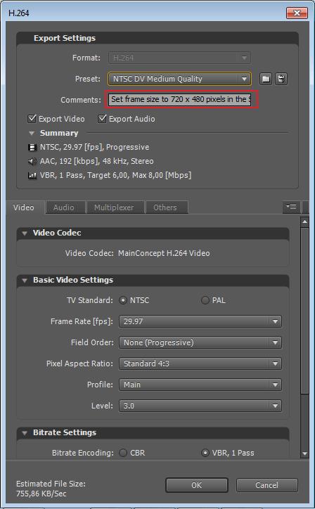 Комментарий к видео в программе Adobe After Effects