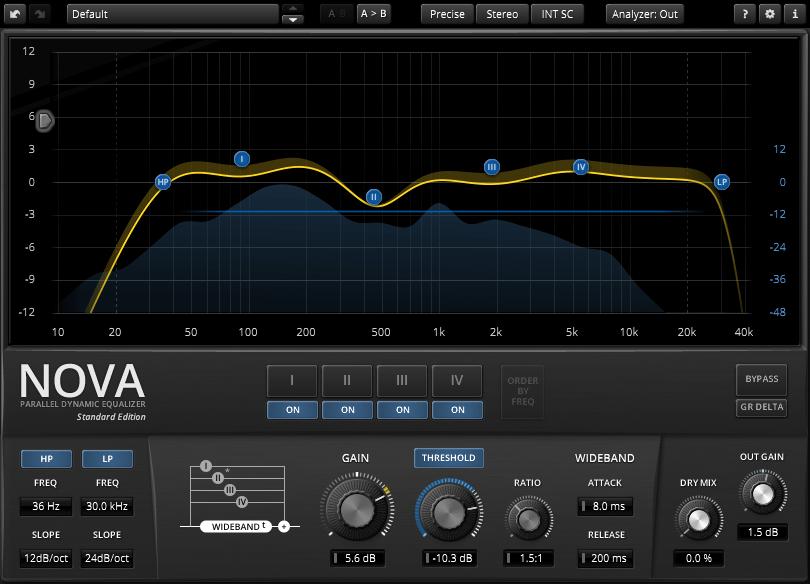 TDR Nova-67P плагин в программе Adobe Audition