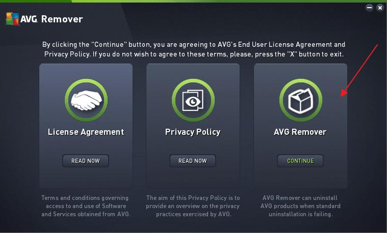 Утилита AVG Remover для удаления программы AVG