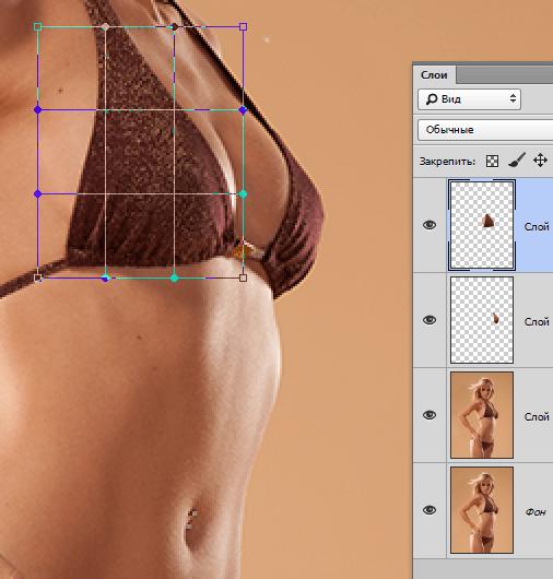 Увеличиваем грудь в Фотошопе