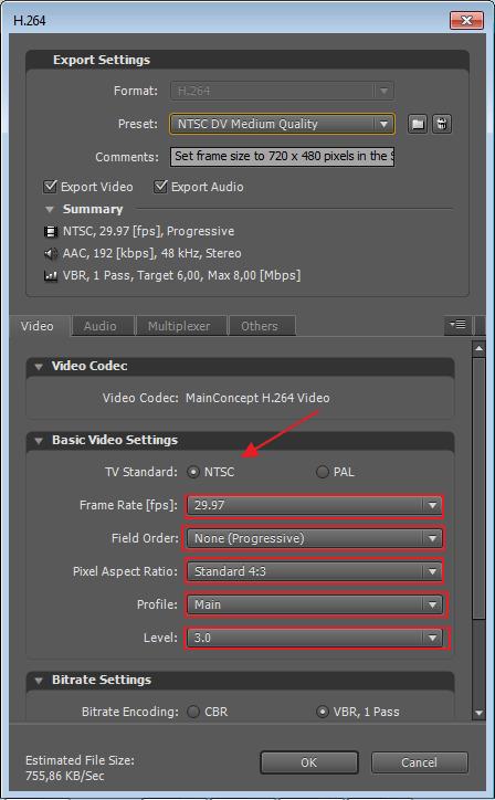 Выбор цветовой схемы в программе Adobe After Effects