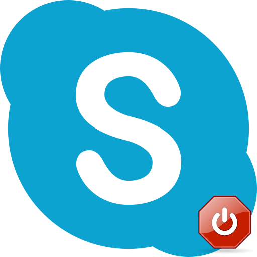 Выход из Skype