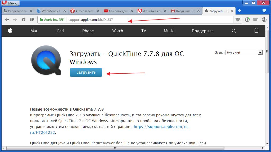 Загрузить пкет кодеков для программы Adobe Premier Pro