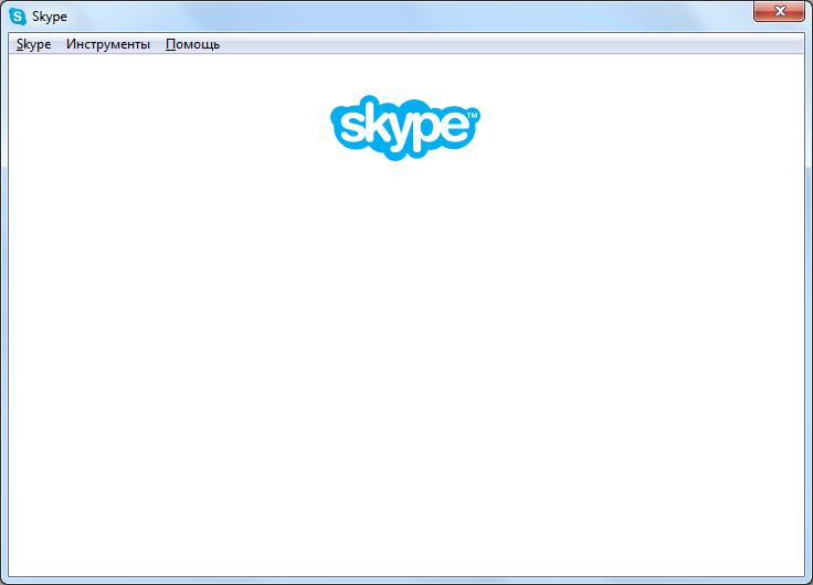 Белый экран в программе Skype