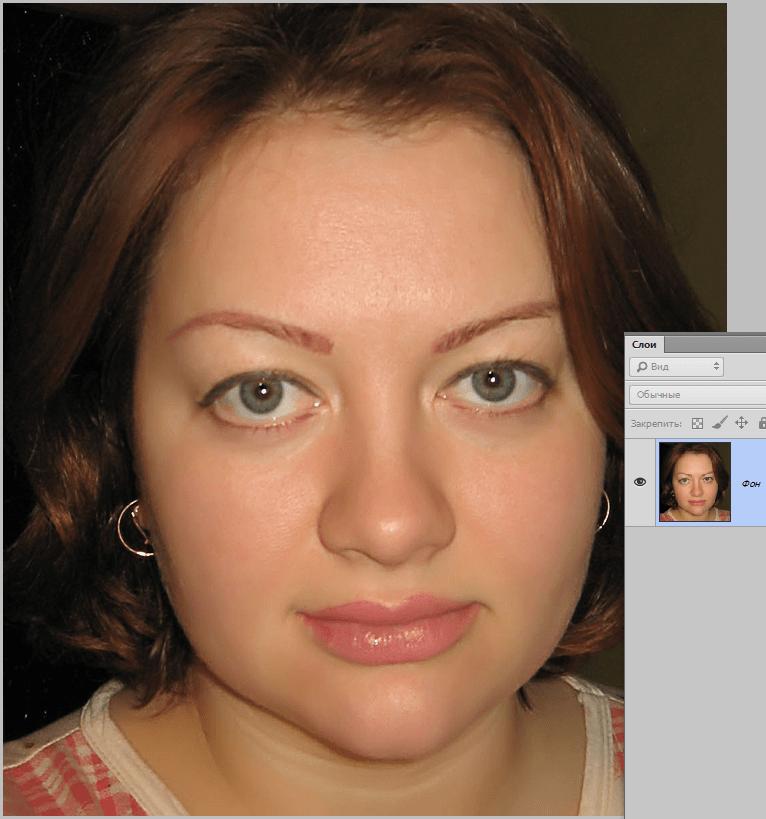 Делаем лицо худее в Фотошопе