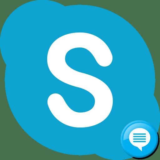 История переписки в Skype