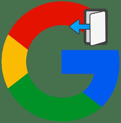 Как выйти из аккаунта Google лого