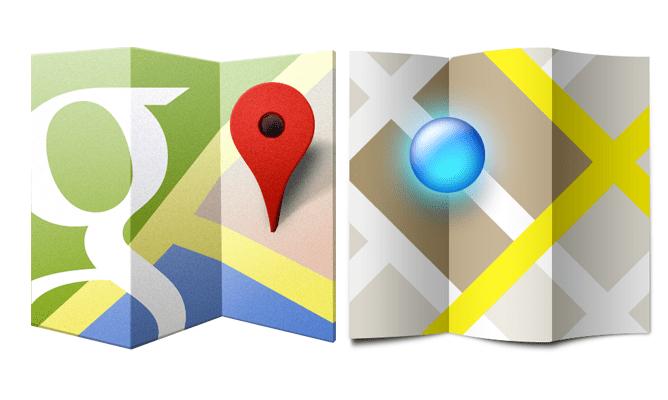 Поиск по координатам на Google Maps лого