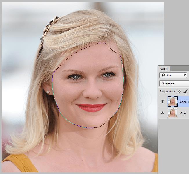Уменьшаем лицо в Фотошопе