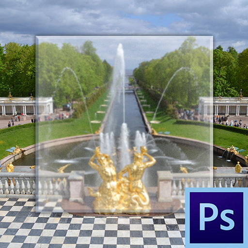 Как сделать эффект стекла в Фотошопе