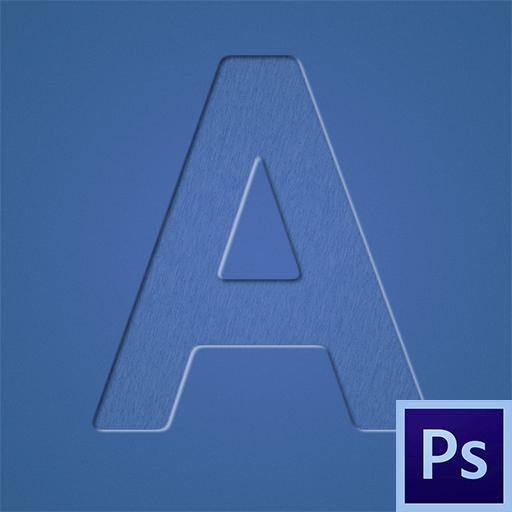 Как сделать вдавленный текст в Фотошопе