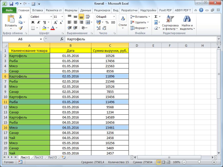 Пустые ячейки удалены в Microsoft Excel