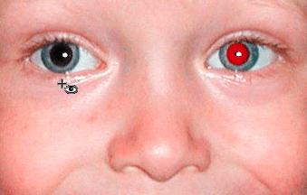 Работа инструмента Красные глаза