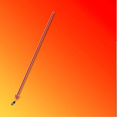 Работа инструмента Пипетка
