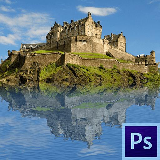 Как сделать отражение в воде в Фотошопе