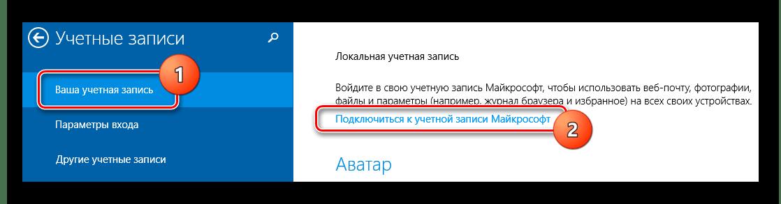 Добавление учетной записи Windows 8