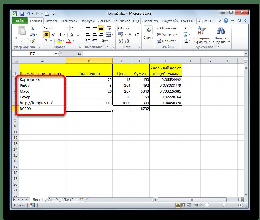 Гиперссылки удалены в программе Microsoft Excel