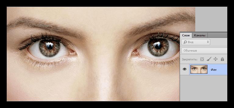 Исходное изображение для создания белых глаз в Фотошопе