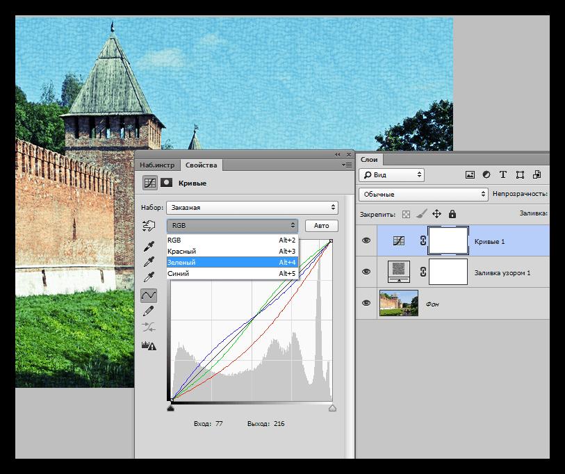 Корректирующий слой Кривые в Фотошопе