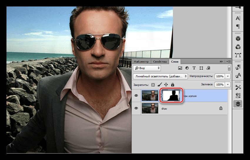 Оветление фона режимами наложения в Фотошопе