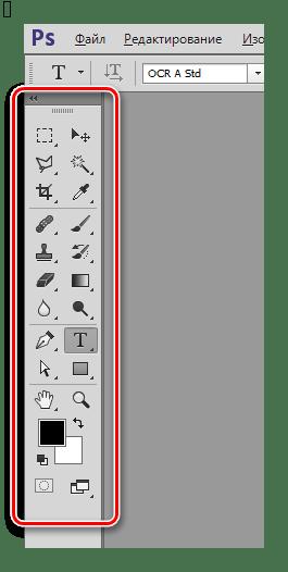 Панель инструментов в Фотошопе