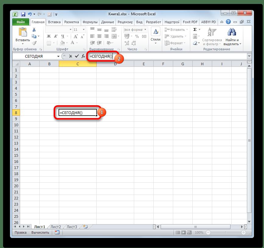Пересчет формулы в Microsoft Excel