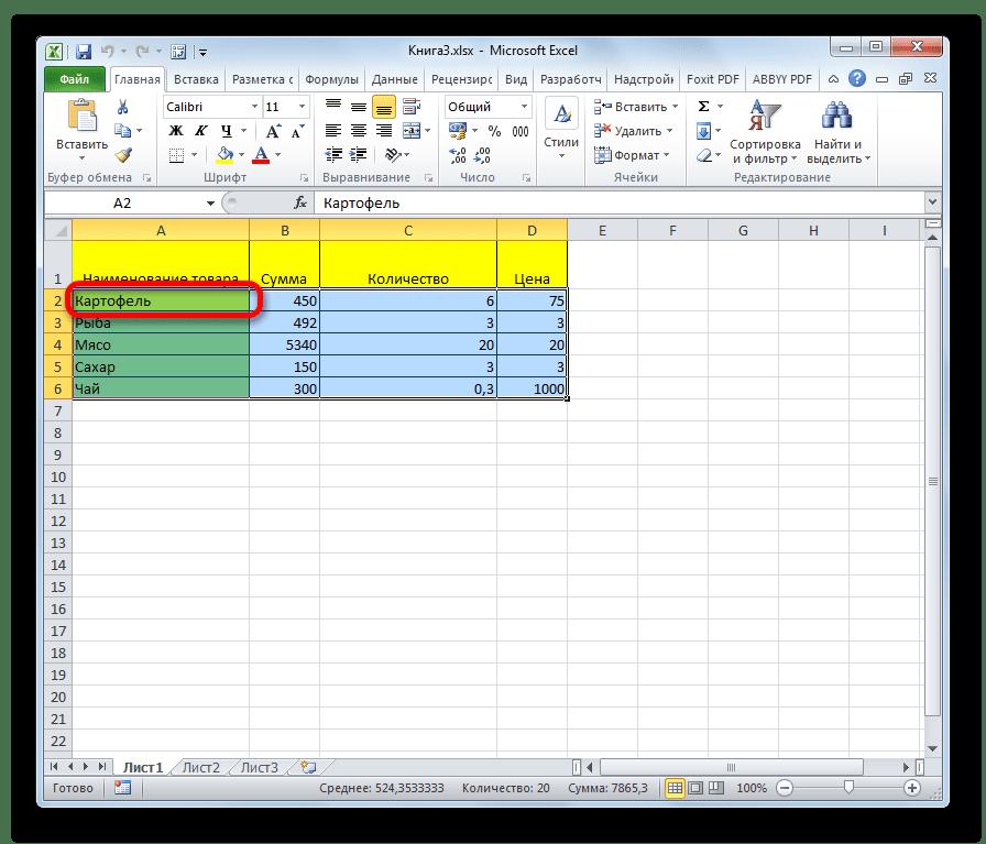 Применение горячих клавиш в Microsoft Excel