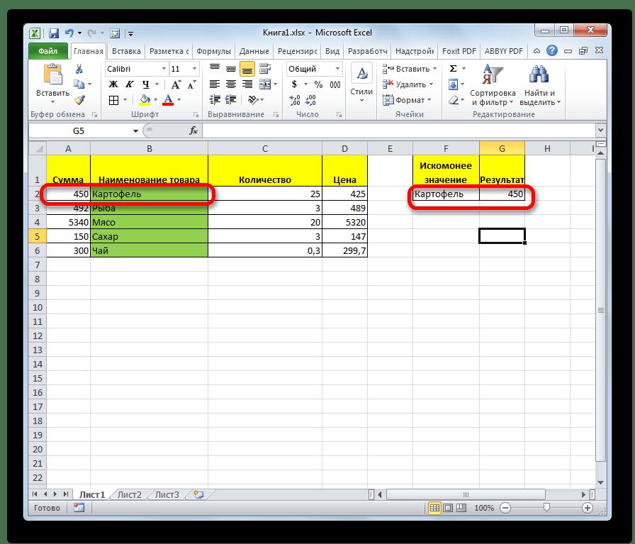 Результат заполнен повторно в Microsoft Excel